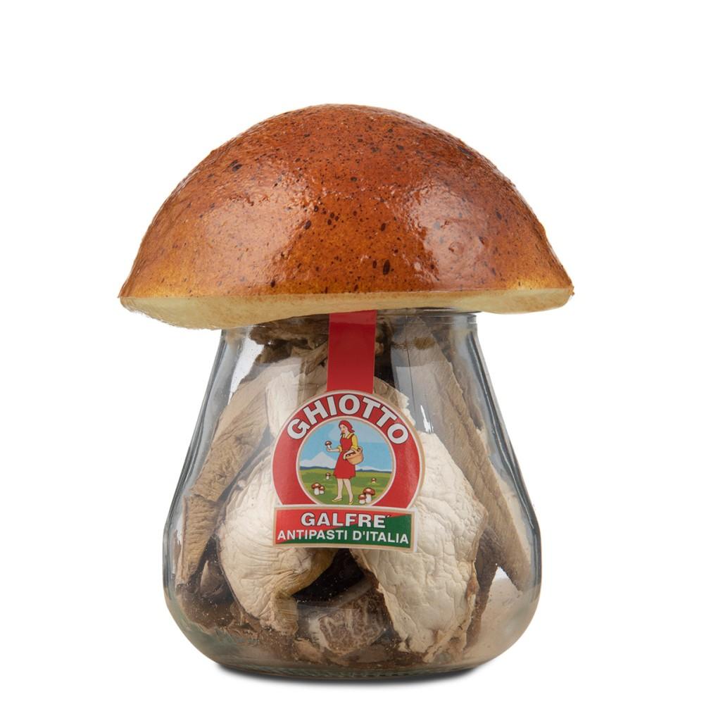 "Dried porcini mushrooms jar mushroom cork ""speciale"" g. 30"