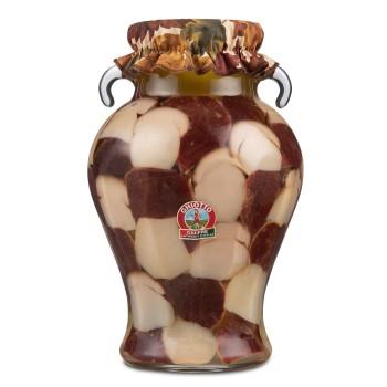 Funghi porcini tagliati kg. 4 vaso anfora