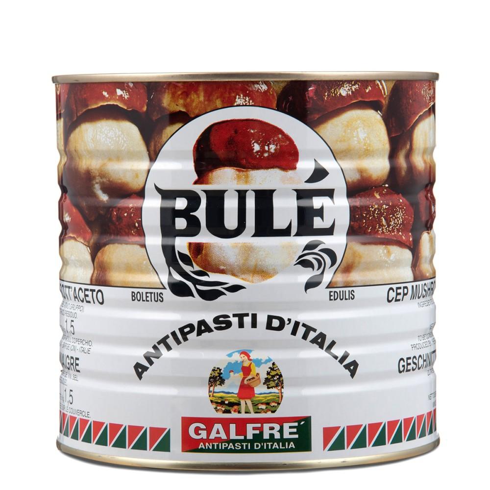 Porcini mushrooms in olive oil tin Bulè kg 2,5