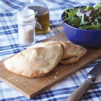 Mushrooms calzone