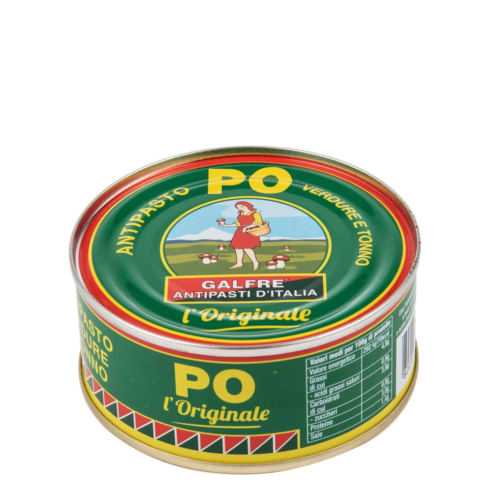 Antipasto PO, Mixed vegetables with tuna fish g. 80