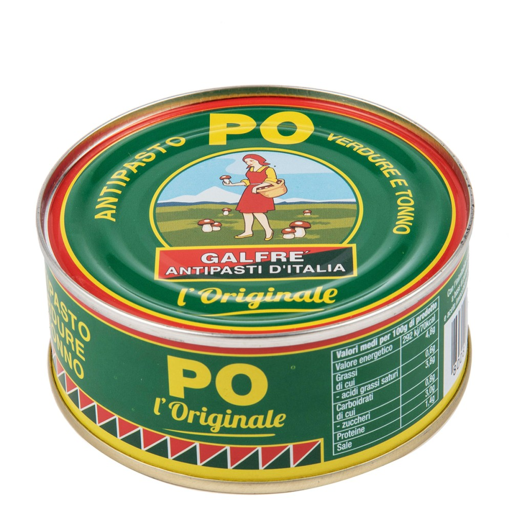 Antipasto PO verdure con tonno g. 300