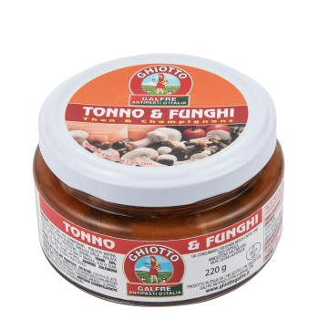 Tuna fish and mixed mushrooms g. 220