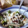 Caesar Salad with artichokes and mushrooms