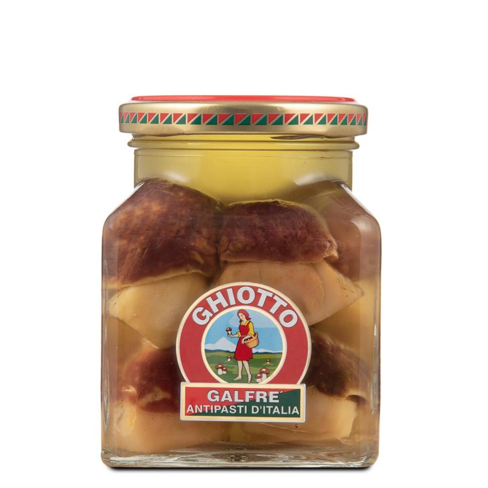 Funghi Porcini interi sott'olio | Vaso quadro 290g