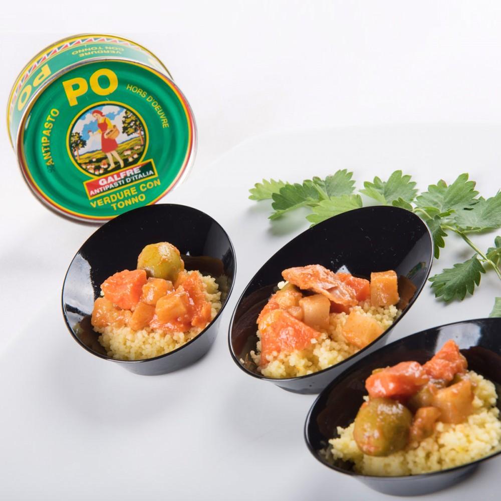 Cous Cous with PO Antipasto and saffron