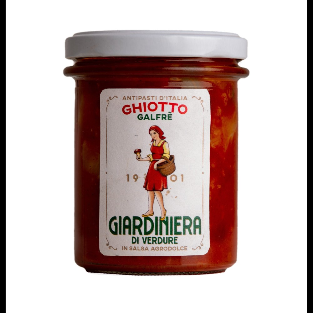 Vegetable giardiniera in sweet and sour sauce g. 190