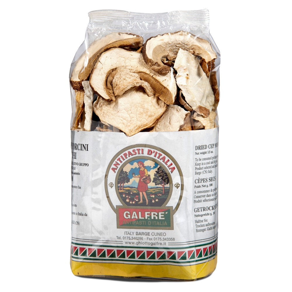 "Dried porcini mushrooms packet ""speciale"" g. 100"